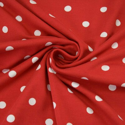 Jerse bumbac - Dots Red