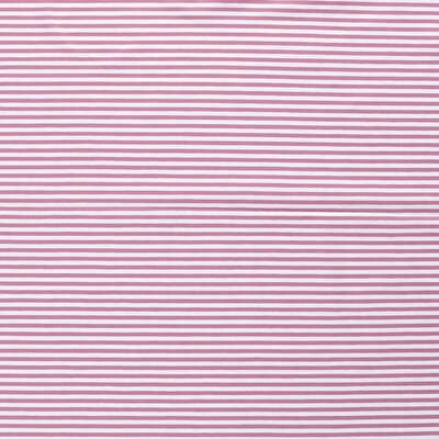 Jerse bumbac imprimat - Stripes  Old Pink 5mm