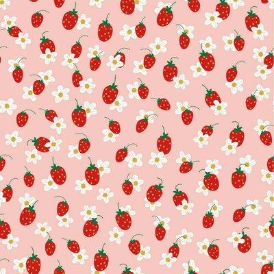Jerse Bumbac organic - Strawberry Flower Rose
