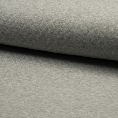 Jerse Cotton Diamond - Mid Grey Melange