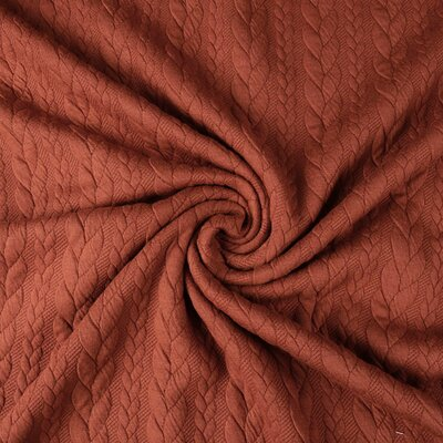 Jerse Jacquard Cable Knit - Terra