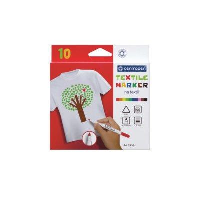 Markere textile Centropen - 10 culori