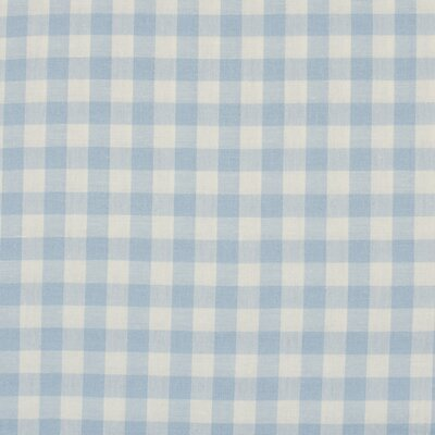 Material bumbac - Gingham Light Blue 10mm
