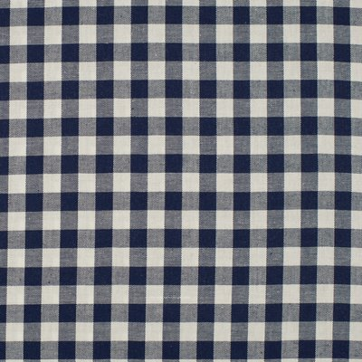 Material bumbac - Gingham Navy 10mm