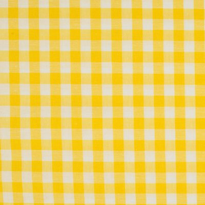 Material bumbac - Gingham Yelow 10mm