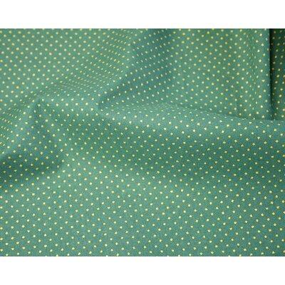 Material bumbac - Metallic Pin Spot Green