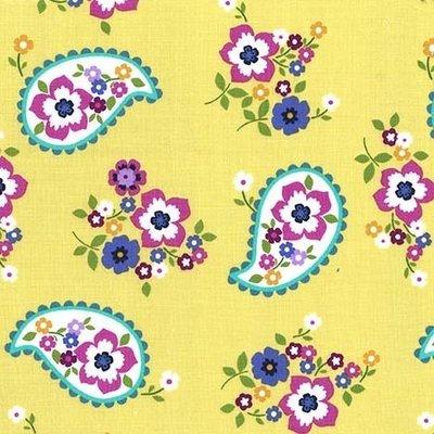 Material designer Michael Miller - Paisley Love Citron