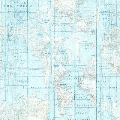 Material Home Decor - World map Blue