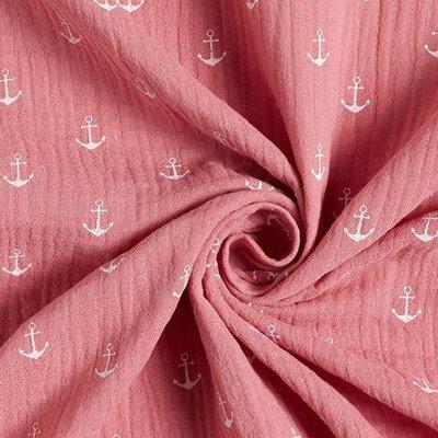 Muselina imprimata - Anchors Rose