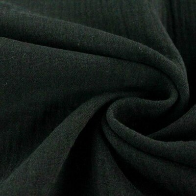 Muselina Organica GOTS - Black