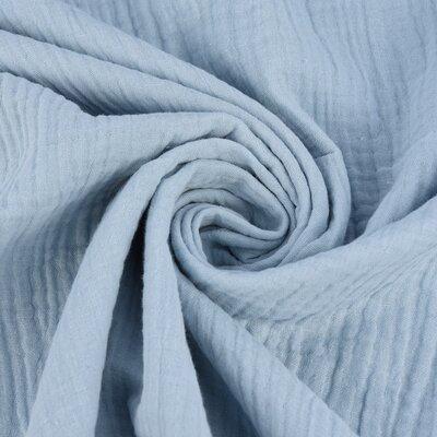 Muselina Uni Organica GOTS- Blue