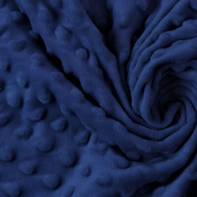 Plush Minky Dot - Navy Blue