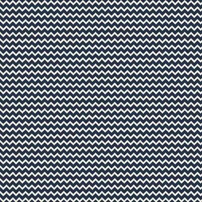 Poplin Imprimat - Chevron Navy