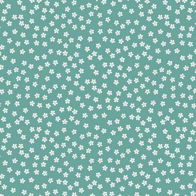 Poplin imprimat - Ditsy Floral Fresh Sage