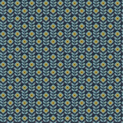 Poplin imprimat - Graphic Flowers Navy
