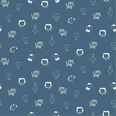 Poplin imprimat - Petite Animals Jeans