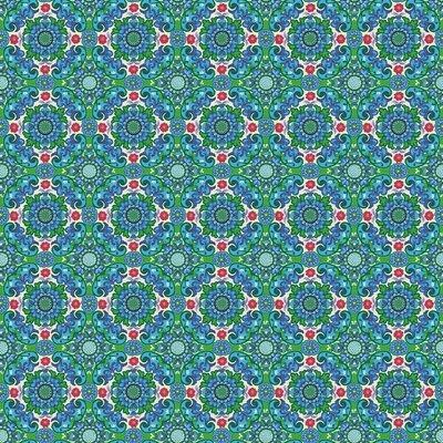 Poplin imprimat - Purdey Blue