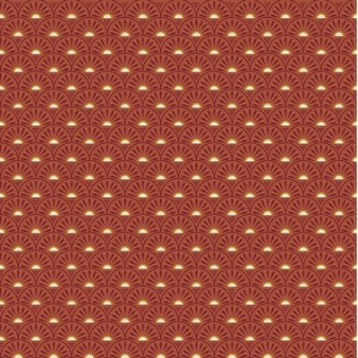 Poplin imprimat - Retro Graphics Rust