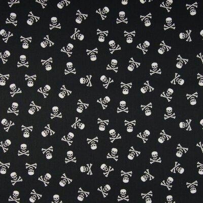 Poplin imprimat - Skulls & Bones