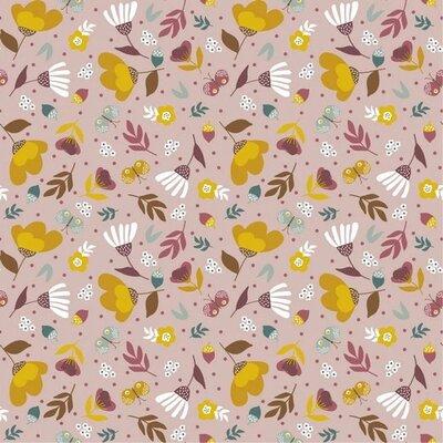 Poplin imprimat - Spring Garden Liliac