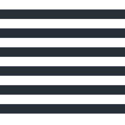 Poplin imprimat - Stripe Navy/White 2.5 cm
