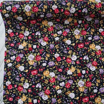 Poplin - Lush Florals Navy