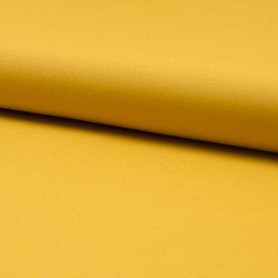 Poplin stretch din bumbac - Ocre