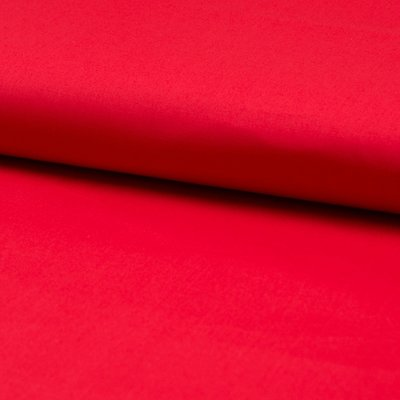 Poplin stretch din bumbac - Red