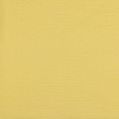 Voal de bumbac cu buline brodate - Plumetis Yellow