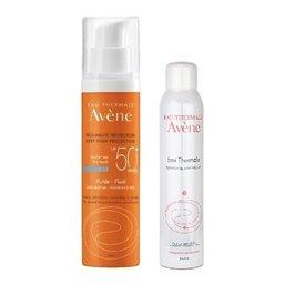 Avene SPF 50 Fluid Fara parfum 50ml + Apa termala 150ml