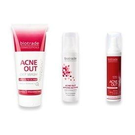 Biotrade Acne Out Oxy Wash 50ml+Lotiune Activa 60ml+Crema Hydro Activa 60ml