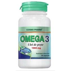 Cosmo Pharm - Omega 3 - ulei de peşte 1000 mg, 30 capsule