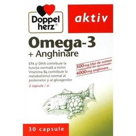 Doppelherz Aktiv Omega-3 + Anghinare,  30 capsule