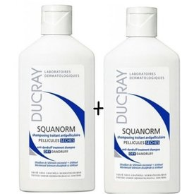 Ducray Squanorm Sampon impotriva matretii uscate 200ml+200ml