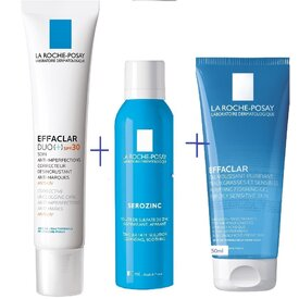 La Roche Posay Effaclar DUO+ SPF 30 crema 40ml+Serozinc 50ml +Effaclar gel purifiant 50ml