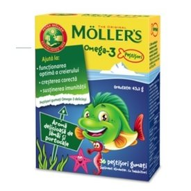 Mollers  Omega 3 36 jeleuri gumate