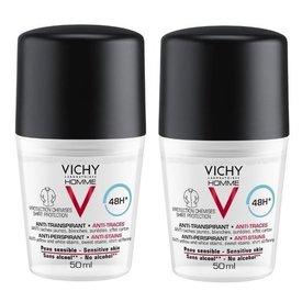 Vichy Deodorant 48h Anti-Urme Barbati 50ml+50ml