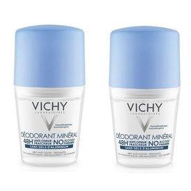 Vichy Deodorant Mineral 48h Fara Aluminiu 50ml+50ml