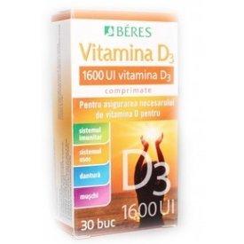 Vitamina D3  1600U.I. 30comprimate