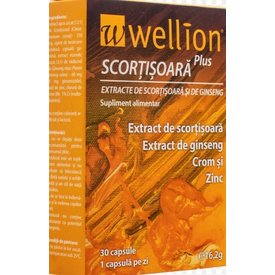 Wellion Plus scortisoara si ginseng 30capsule