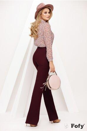 Bluza dama Fofy roz din voal cu jabou și accesoriu inclus