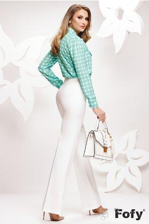 Bluza Fofy dama eleganta din voal cu buline verzi