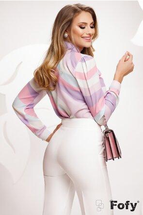 Bluza Fofy dama eleganta din voal in culori pastelate
