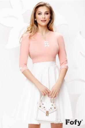 Camasa dama Fofy roz cu brandenburg