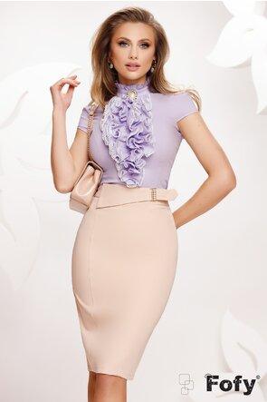 Camasa Fofy dama lila eleganta cu jabou amplu