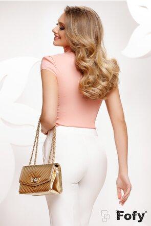 Camasa Fofy dama roz eleganta cu jabou amplu