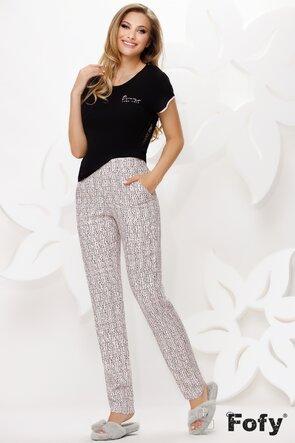 Pijama premium cu tricou cu tul pe spate si pantaloni lungi