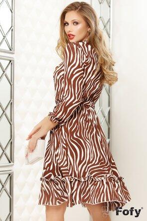 Rochie de dama din voal imprimeu zebra
