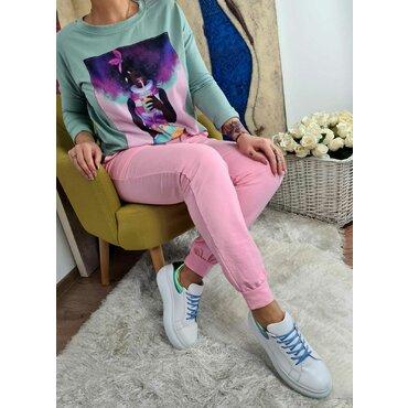 Pantaloni roz sport casual dama Mara