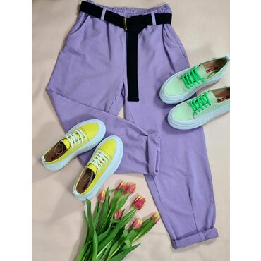 Pantaloni sport casuala mov Arina